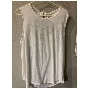 Old Navy XL White Tank Keyhole Tie Back